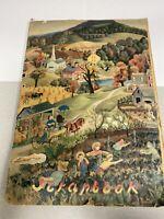 """Vintage 1950's Large Scrapbook 16"""" Retro Marilyn Monroe Elvis Presley Advertisin"""