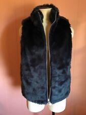 JCrew Faux-Fur Vest XS 0 2 Navy H0840 SOLD OUT