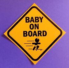 "PVC bumper window sticker ""Baby on board' for your van 4WD truck ute car"