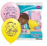 """(6ct) Doc McStuffins Birthday Latex Balloons Party Supplies 12"""""""