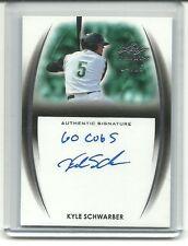 Kyle Schwarber 2014 Leaf Trinity On Card RC Auto/25 GO CUB INSCRIPTION Autograph