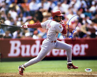 BARRY LARKIN SIGNED AUTOGRAPHED 11x14 PHOTO CINCINNATI REDS PSA/DNA