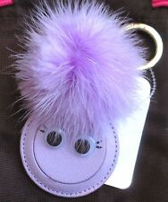 Kate Spade Mink Pom Pom Monster Mirror Key Chain Fob Keychain Charm