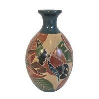 Bismarek Ocampo SIGNED SOUTH AMERICAN ART POTTERY NICARAGUA Butterflies Vase 8