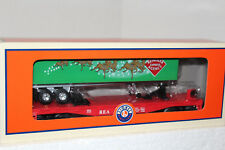 LIONEL #83313 REA Reindeer Express Agency Flatcar with long Trailer