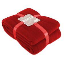 Luxury 150x200cm Large Red Soft Sofa Bed Polar Fleece Throw Travel Car Blanket