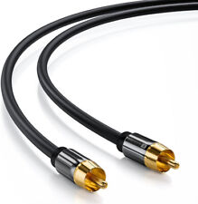 5m Subwoofer Kabel Premium RCA Digitales Koaxial HiFi Audio Kabel 2x Cinch Sound