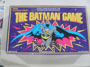 The Batman Game by University Games 50th Anniversary Edition Vintage 1989