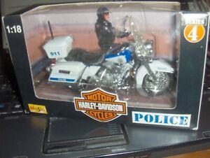 Toy Maisto 1:18 Harley California Highway Patrol Motorcycle series 4 diecast chp