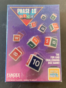 Vintage UNOPENED - Phase 10 Dice Game COMPLETE - Fundex - 1993