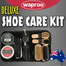 WAPROO Deluxe SHOE CARE KIT-  Polish x2, Brush, Shoe Horn YOU CHOOSE THE COLORS