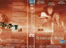 FLESH AND BONE- Quaid & Caan- VHS-PAL- NEW- NEVER PLAYED!! - Original Oz release