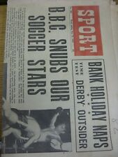 """23/05/1953 Sport Newspaper: Vol.15, No.280 - """"BBC Snubs Our Soccer Star"""" [Front"""
