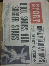 """23/05/1953 GIORNALE Lo Sport: Vol.15, No.280 - """"BBC snubs la nostra stella del calcio"""" [ANTERIORE"""