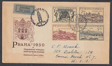 Czechoslovakia Sc 429a FDC. 1950 Views of Prague on Registered FDC to US