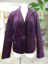 TALBOTS Purple Velvet Classic Jacket Blazer 8