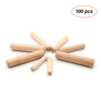 Approx 1//4 x 1 3//16 inch Fluted Wood Dowels Rods 200 Pack Hardwood Wood Crafts Pegs Wooden Dowel Pins 6 x 30mm