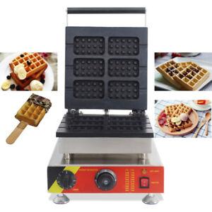 Commercial Nonstick Electric 6pcs Belgian Waffle Stick Baker 110V