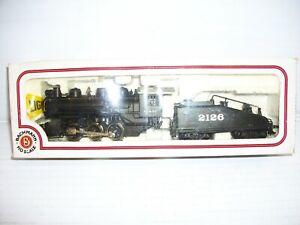 HO Scale Bachmann 41-505-02 AT&SF 0-6-0 Steam Locomotive w/ Tender #2126
