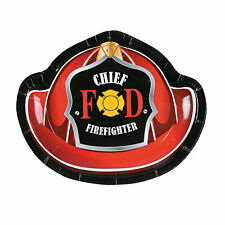 Firefighter Party Paper Dessert Plates - 8 Ct. - Party Supplies - 8 Pieces