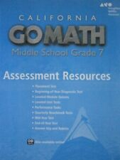 Grade 7 Go Math California Middle School Assessment Resources with Answers 7th