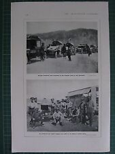 1917 WWI WW1 MAP ~ BRITISH ARMOURED CARS RUSSIAN ARMY IN CAUCASUS REPAIR WAGGON