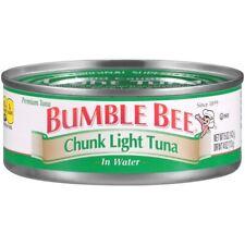 (12 Cans) Bumble Bee Chunk Light Tuna Wild Caught Water Tuna Fish 5oz Exp11/22