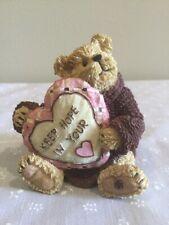 "Boyds Bears and Friends Bearstone ""Brenda Jean…Never Give Up Hope� - Nib"