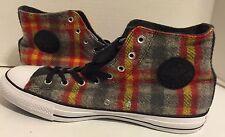 Converse 149454C Chuck Taylor All Star Woolrich Hi Sneaker Plaid MEN 12 (WOM 14)