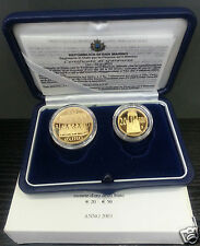 SAINT MARIN COFFRET OFFICIEL BE PROOF 20 & 50 € EURO OR GOLD 2003 RARE !!!!!!