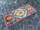 Decor rug, Organic vintage rug, %100 wool handmade, Turkish rug   1,4 x 3,1 ft