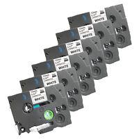 6 New Label Tape for Brother PT 1010 1090 1120 1130 11Q 1280 SR 1290 BT 9800PCN