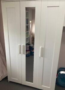 Ikea Kleiderschrank BRIMNES Mit SPIEGEL