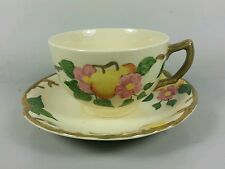 JOHNSON BROTHERS PEACH BLOOM TEA CUP AND SAUCER (PERFECT)