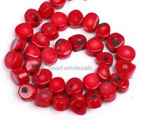 Natural Coral Gemstone Loose Spacer Beads 16'' A Strand