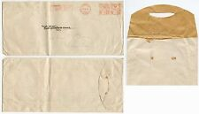 GB 1941 METER FRANKING STRAUSS + CO PRINTED RATE + UNSEALED STRIP + SLOT CLOSURE