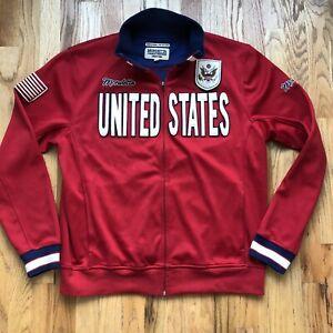 Men's Vintage Mondetta United States Team USA USMNT Olympic Track Jacket Sz XL