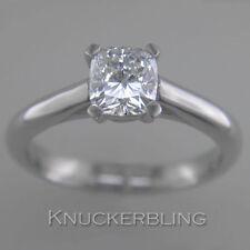 Cushion Very Good Cut Natural White Gold Fine Diamond Rings