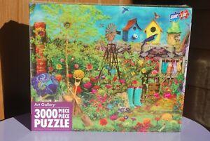 SURE-LOX ART GALLERY SUMMER GARDEN 3000 PIECE PUZZLE, NEW, SEALED,