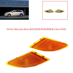 2×Turn Signal Light Left+Right FitFor Mercedes Benz R251 R320 R350 R500 W251 set