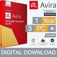 Avira Internet Security Suite 2019 (3PCs) Antivirus 1Yr Genuine License Windows