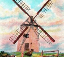 OLDEST working mill in USA The Old Mill Nantucket Mass smock Vintage Postcard