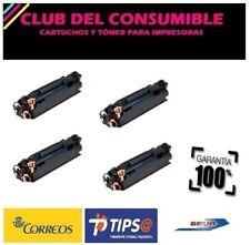 4 X CE285A/CB435A/CB436A NEGRO CARTUCHO TONER UNIVERSAL Nº85A/35A/36A NO OEM HP