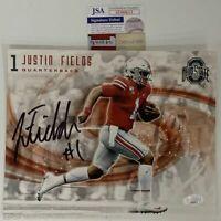 Autographed/Signed JUSTIN FIELDS Ohio State Buckeyes 8x10 Photo JSA COA Auto #5