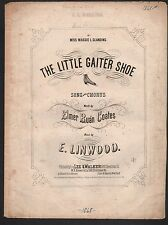 Little Gaiter Shoe 1868 Sheet Music