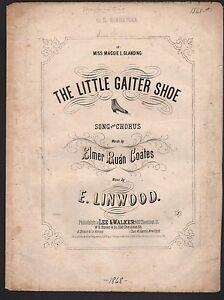 Little Gaiter Shoe 1868 Sheet Music