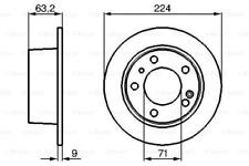 2x Bremsscheibe für Bremsanlage Hinterachse BOSCH 0 986 478 141