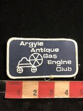 Vtg Illinois ARGYLE ANTIQUE GAS ENGINE CLUB Patch 85I3