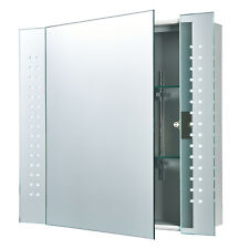 Endon Revelo LED shaver bathroom mirror cabinet IP44 5W sensor H: 600mm W: 650mm