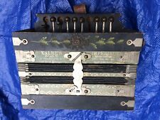 Kalbe's Accordion Made in Germany Tune Diatonic Button Repair Vintage